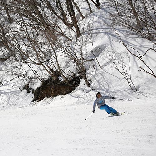 びわ湖バレイにスキースクール 校長 丸山日出男